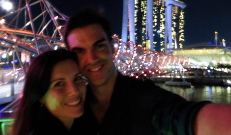 Amy Peel and Luke Peel in Singapore