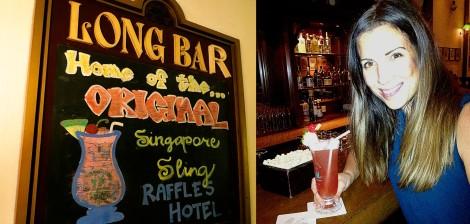 Amy Peel enjoying a Singapore Sling