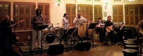 The band at Raffles Long Bar