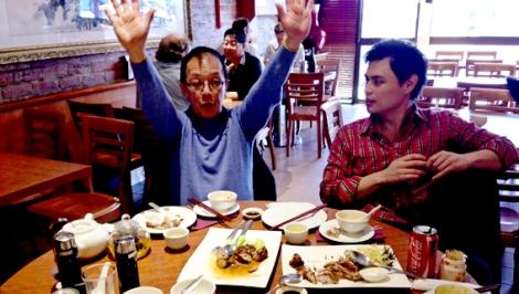 Tony Tan at Dumpling King with Eddie McDougall