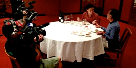 Filming The Flying Winemaker at Flower Drum