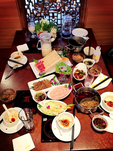 The destruction left after dining at Dainty Sichuan in Box Hill