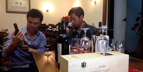 Eddie McDougall and Jim Sun, Wine China