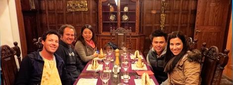 Crew dinner at Treaty Port Winery