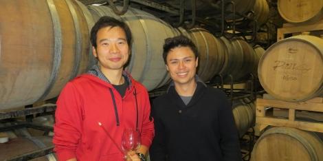 Barrel tasting at Treaty Port