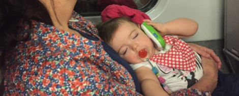 BLOG - Asleep on the train